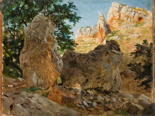 Rocas del Monasterio de Piedra. Carlos Haes (Foto: J. Garrido)